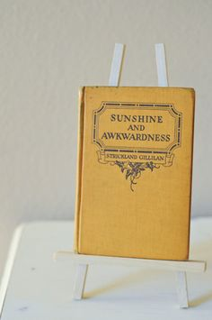 Vintage Yellow Book / Home Decor Yellow by HappyHomeCollective, $9.00