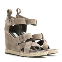 Army like wedge sandals, Balenciaga