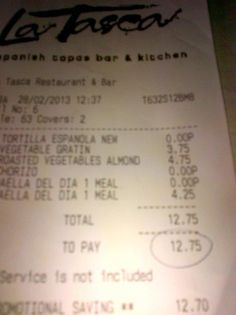 3 FREE dishes at 2-4-1 at La Tasca.... Dinner for 2 for £12.75!!