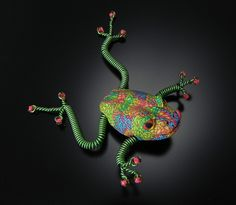Polymer Pin by Joyce Fritz at Smith Galleries JFS-FROG