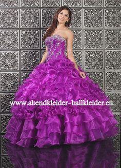 Duchesse Abendkleid Ballkleid in Lila Online