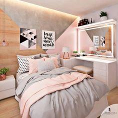 50 pink bedroom decor that you can try for yourself .- 50 rosa Schlafzimmer Dekor, das Sie selbst ausprobieren können 50 pink bedroom decor that you can try for yourself out - Pink Bedroom Decor, Bedroom Themes, Dream Bedroom, Pastel Bedroom, Teen Bedroom Colors, Bedroom Ideas For Teen Girls Grey, Modern Teen Bedrooms, Bedroom Small, Grey Rose Gold Bedroom