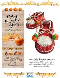 This listing is for CROCHET SHOE PATTERN - PDF - Instant Download BABY PUMPKIN SHOES - Special Autumn Edition. This is a PATTERN and NOT a finished item. 58 pages & 90+ photos in the pdf! FOR A LIMITED TIME ONLY (until April 7th, 2018), the Tribal Baby Clogs