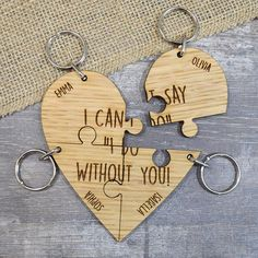Bridesmaid Gift Keyring I Can't Say I Do Without You Personalised Quote Keepsake Personalised Family Print, Personalized Items, Bridesmaid Gifts, Bridesmaids, Heart Keyring, Different Quotes, Hens Night, Unique Presents, Without You