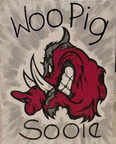 Items similar to Woo Pig Sooie Razorback Painting on Etsy Ar Razorbacks, Arkansas Razorbacks Football, Cowboys Football, Manado, Razorback Painting, American Flag Wallpaper, Iphone Wallpaper Photos, Woo Pig Sooie, Plastic Canvas Patterns