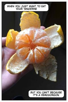 I will never look at an unpeeled orange the same after thisv