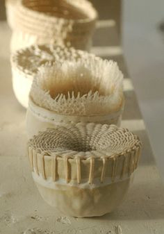nancy bauch - I love the idea of using basket weaving and ceramics together!! I wish I had the time to experiment with this...