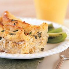 A breakfast or brunch seafood egg casserole recipe that can be made ahead and baked the next day.