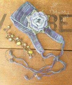 Ravelry: Boho Chic Rose Headband pattern by Melanie Grobler Double Crochet Decrease, Half Double Crochet, Single Crochet, Make A Tie, Rose Headband, Headband Pattern, Yarn Colors, Colours, Crochet For Kids