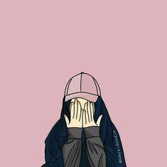 Iphone Wallpaper Images, Pop Art Wallpaper, Emoji Wallpaper, Cute Wallpaper Backgrounds, Cute Cartoon Wallpapers, Tmblr Girl, Hijab Drawing, Islamic Cartoon, Hijab Cartoon