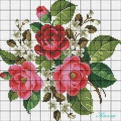 Alıntıdır Cross Stitch Rose, Cross Stitch Borders, Cross Stitch Baby, Cross Stitch Flowers, Cross Stitch Charts, Cross Stitch Designs, Cross Stitching, Cross Stitch Patterns, Rose Embroidery