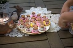 Fairy food at a forest fairy themed birthday party
