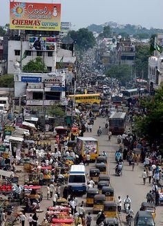 Hyderabad street, India.