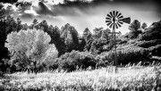 hd windpump windmill black and white wallpaper download