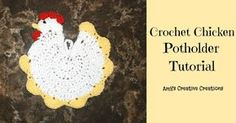 Free Crochet Pattern for a Chicken Potholder. I just may have to make a couple for myself! The Chicken is so cute! I don't think I could use it for work, but it sure would make a great kitchen decoration# ❤