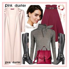 Pink duster 2 by amisha73 on Polyvore featuring moda, Isabel Marant, Collectif, Gucci, French Connection, Stephen Webster, Oscar de la Renta and Free People
