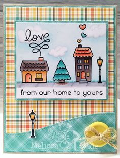 I love love love the new Winter Village stamp set from Lawn Fawn . I couldn't resist picking up this cute little set and a ton of their...