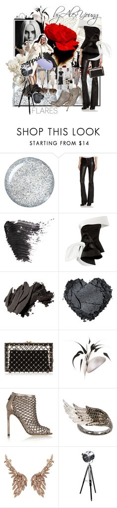 """""""Cropped FLARES"""" by alexyoung-at-polyvore ❤ liked on Polyvore featuring Paul & Joe, rag & bone/JEAN, Topshop, Maticevski, Bobbi Brown Cosmetics, Charlotte Olympia, Philip Treacy, Gucci, AS29 and Sutra Jewels"""