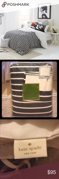 Striped Kate Spade comforter New size twin XL perfect for moving into a dorm this fall! kate spade Other