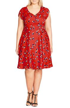 City Chic Cutie Pie Fit & Flare Dress (Plus Size) available at #Nordstrom