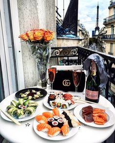 food, sushi, and luxury image