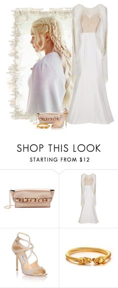 """Daenerys - Game of Thrones"" by love-n-laughter ❤ liked on Polyvore featuring Elena Ghisellini, Mikael D and Jimmy Choo"