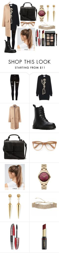 """""""Untitled #2130"""" by ltguuk ❤ liked on Polyvore featuring River Island, Moschino, Rochas, Dr. Martens, Wildfox, NIKE, Karl Lagerfeld, Sydney Evan, L'Oréal Paris and David Jones"""