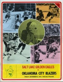 salt lake golden eagles programs | Salt Lake Golden Eagles 1974-75 game program