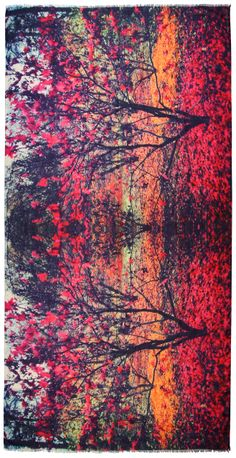 Silas Ruby print scarf: Printed Scarves by Lily and Lionel - Lily and Lionel