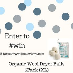Giveaway: Win a 6 pack of Organic Dryer Balls Happy Sunday! I hope you are all doing awesome! When I posted about Wool Dryer Balls a couple of weeks ago, I could not believe it was such a big hit. All of my Viewtiful friends loved them! Who wouldn't they are awesome! Any who, I teamed up with a friend...