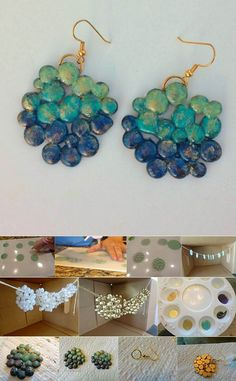 Glue gun glam - do it yourself stuff More awesome things to do with your glue gun!! You could also make a necklace