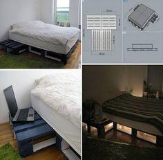 Como hacer una cama con palets de madera