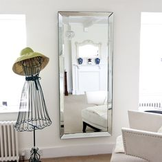 Marvelous Floor Mirror By Coaster | Contemporary Floor Mirrors, Living Rooms And Shape