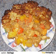 Játra a maso nakrájíme na kousky, dáme do mísy a přidáme 4 lžíce oleje, kari, sůl, mletou papriku, sečuánské koření a oregáno. Zamícháme a... Korn, Betty Crocker, A Table, Macaroni And Cheese, Grains, Rice, Chicken, Ethnic Recipes, Sweet