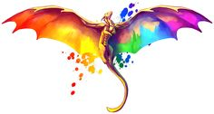 (Please click for full size!) It seemed fitting for the grand finale of the series to be an umbrella pride dragon to represent the community as a whole. If you identify as part of the LGBT+ community...