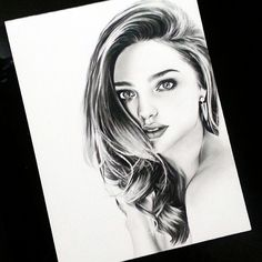 "Miranda Kerr on #Strathmore Bristol Smooth 9x12"" using #Staedtler #Graphite #Pencil #mirandakerr #portraitdrawing"