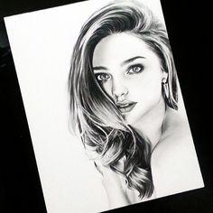 "Miranda Kerr on #Strathmore Bristol Smooth 9x12"" using #Staedtler #Graphite #Pencil #mirandakerr #portraitdrawing"