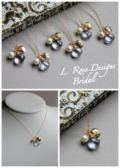 They're hidden Mickey's!! Bridesmaid GIFT SET of SIX Monogrammed Initial by LRoseDesigns, $228.00