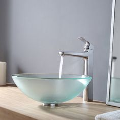 Frosted Glass Sink Is A Good Option For A Glass Vessel/basin Sink That Is