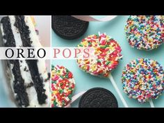 Oreo Pops Recipe - 3-Ingredient Party Ideas - Eugenie Kitchen can easily be made gluten and dye free
