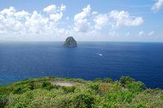 Martinique, Diamant ..vue de la route
