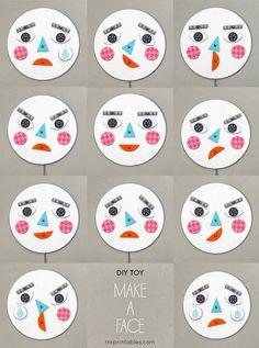 Voilà une bien jolie façon d'apprendre aux enfants à exprimer leurs émotions. Vous pouvez télécharger le modèle et le fabriquer vous mêm...