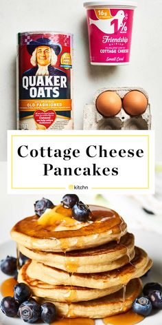 3-Ingredient Cottage Cheese Pancakes   Kitchn Gourmet Recipes, Low Carb Recipes, Cooking Recipes, Snacks Recipes, Low Calorie Vegetarian Recipes, Cooking Kale, Lamb Recipes, Barbecue Recipes, Vegetarian Cooking