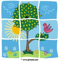 Summer downloads - Miss Sanne 4- 9 piece puzzles