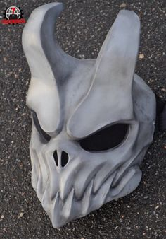 N skull mask , Oni Mask, Skull Mask, Skull Helmet, Cool Masks, Masks Art, 3d Prints, Mask Design, Helmet Design, Wood Carving