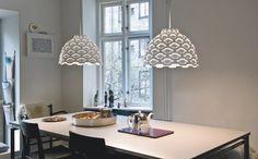 strukturierte Lampe in weiß & Beleuchtungsideen