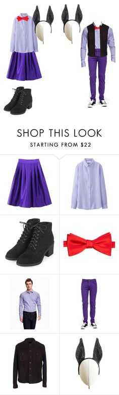"""bonnie girl/boy"" by martinezcc on Polyvore featuring Chicnova Fashion, Uniqlo, Topshop, Saddlebred, Old Navy, Armani Jeans, Heather Huey and fnaf"