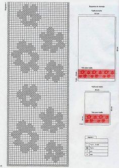 Rose border x-stitch Baby Hats Knitting, Knitting Charts, Knitting Patterns, Crochet Patterns, Crochet Curtains, Crochet Tablecloth, Crochet Doilies, Crochet Chart, Knit Crochet