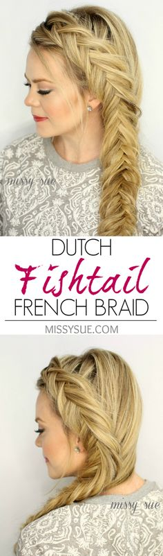 Dutch Fishtail French Braid