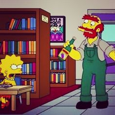 Willie: Why do you always have to make trouble you wee harpy? #Simpsons